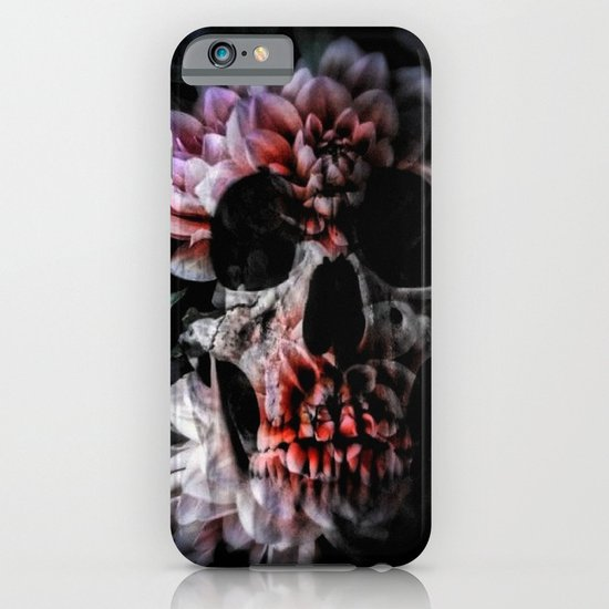 flower skull iPhone & iPod Case