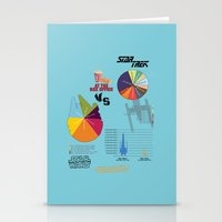 Star Wars vs Star Trek at the box office Stationery Cards
