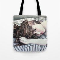 Striped Sheets Tote Bag