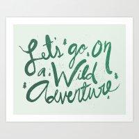 Wild Adventure Type Art Print
