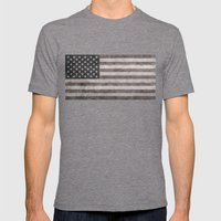 American Flag - Retro St… Mens Fitted Tee Tri-Grey SMALL