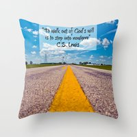 C S Lewis Quote  Throw Pillow
