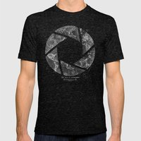 Traveling Lens Mens Fitted Tee Tri-Black SMALL
