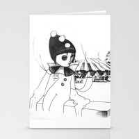Pierrot the clown Stationery Cards