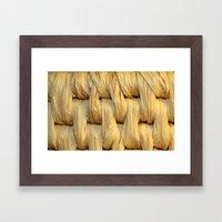 Basket Weave Texture (1) Framed Art Print