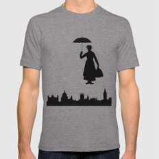Mary Poppins Mens Fitted Tee Tri-Grey SMALL
