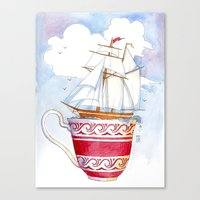 Ship in a Cup Canvas Print
