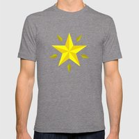 Gold Star/ Blue Mens Fitted Tee Tri-Grey SMALL