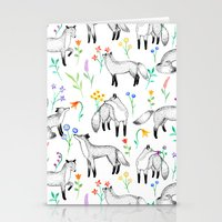 Fox Floral Stationery Cards
