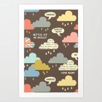 Rainy London Art Print