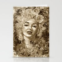 Blonde Bombshell - Sepia… Stationery Cards