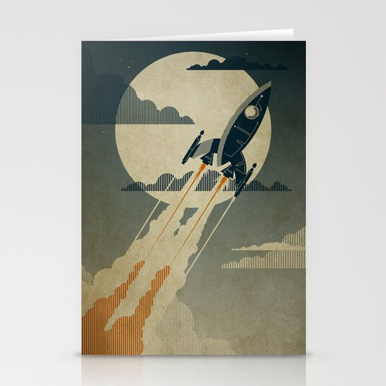 Night Launch Stationery Card