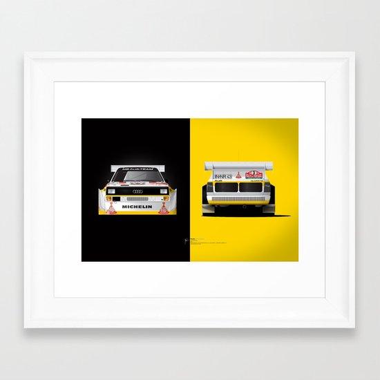 Group B Edition, N.º3, Audi Quattro S1 Framed Art Print