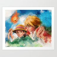 Sophie And Howl From How… Art Print