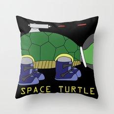 Space Turtle Throw Pillow