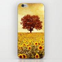 Lone Tree & Sunflowers F… iPhone & iPod Skin