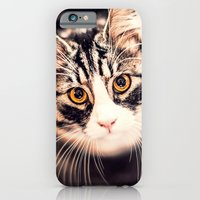 iPhone & iPod Case featuring Greta, the cat by Ylenia Pizzetti