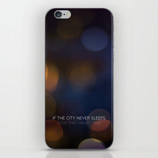 No Sleep iPhone & iPod Skin