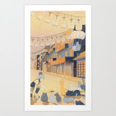 Discovery at Dusk Art Print