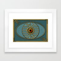 Steampunk Security Framed Art Print
