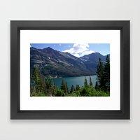 Glacier National Park Sa… Framed Art Print