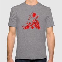 Red Dawn Mens Fitted Tee Tri-Grey SMALL