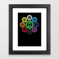 Living In Colour Framed Art Print