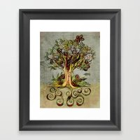 Fall Tree Bloom Framed Art Print