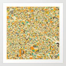 Berlin Map Art Print