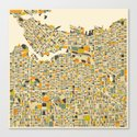 VANCOUVER Map Canvas Print