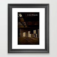 Trash Can Framed Art Print