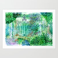 Caged Greens Art Print