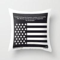 No250 My MALCOLM X Minim… Throw Pillow