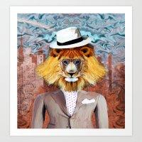 mister Lion Art Print