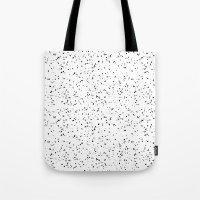 Speckles I: Black on White Tote Bag