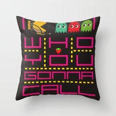 pacman ghostbuster Throw Pillow