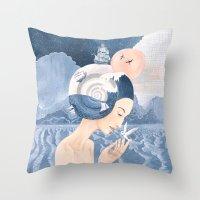 Sound of Sea Throw Pillow