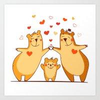 Family Of Bears Art Print
