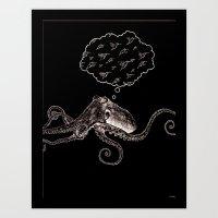 Octopus Daydream Art Print