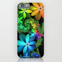 iPhone Cases featuring Sunshine Rainbow Flowers by 21citrouilles