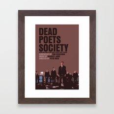 Dead Poets Society Movie Poster Framed Art Print