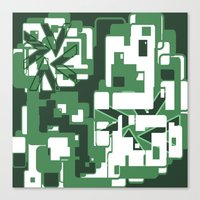 The green city Canvas Print
