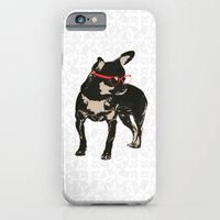 Black tan Chihuahua Dog with chick iPhone 6 Slim Case