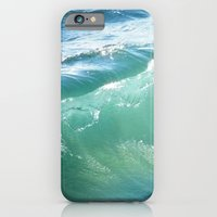 iPhone & iPod Case featuring Teal Surf by Lisa Argyropoulos