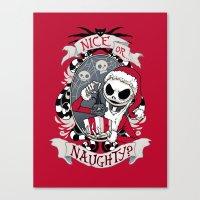 Scary Santa Canvas Print