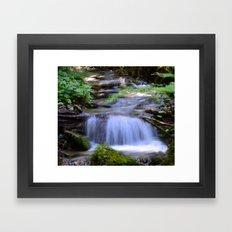 Little Creek Running Down Framed Art Print