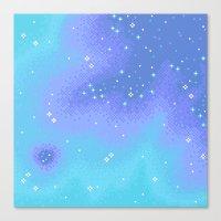 Twilight Nebula (8bit) Canvas Print