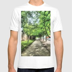Path of Light Mens Fitted Tee White SMALL