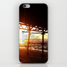 SUNSETS MAKE YOU RELAX iPhone & iPod Skin