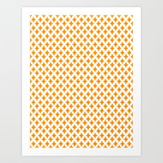 Bazaar 1 Orange Art Print